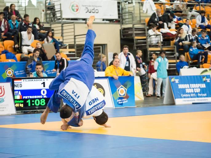 Créditos Rui Telmo Romão  FPJ – Muita ação no Primeiro Dia do Junior European Judo Cup