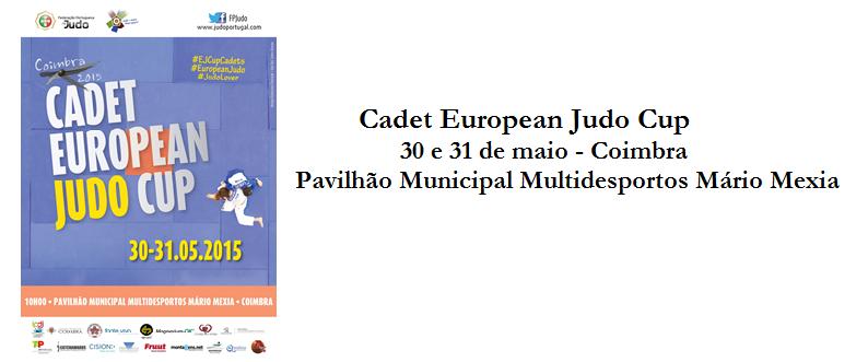 cabeçalho Cadet European Judo Cup